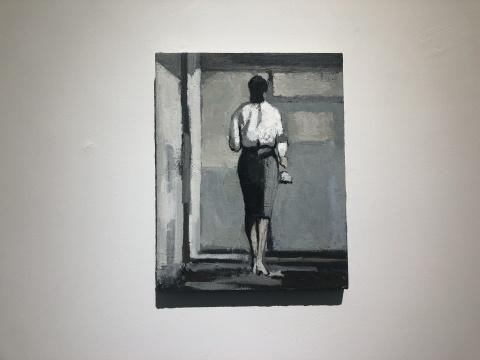 刘晓辉《无题-走廊》51×40.5cm 布面油画 2014