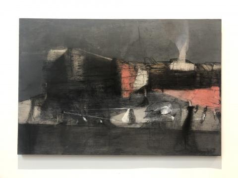 王焕青 《望京的北小河之岸》 135×200cm 布面油彩丙烯 2012-2015