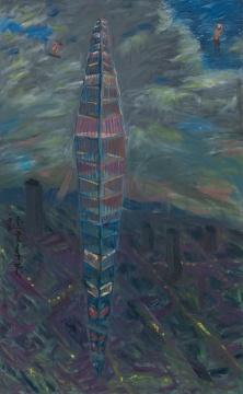 《天地之间》130×210cm 布面油画 2011