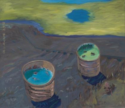 《绿洲》210×180cm 布面油画 2009