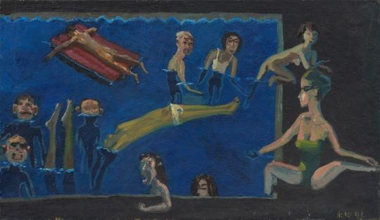 《夏日》150×100cm 布面油画 1988