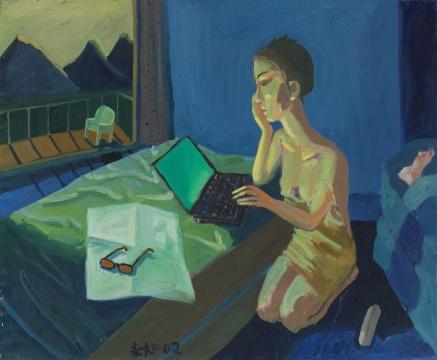 《异梦》160×130cm 布面油画 2002