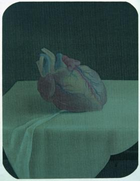 郝量《移用解剖学-5》 14×17.5cm 绢本重彩 2010图片由艺术家提供 来自王兵先生收藏