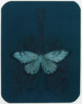 郝量 《移用解剖学-9》14×17.5cm 绢本重彩 2010图片由艺术家提供 来自王兵先生收藏