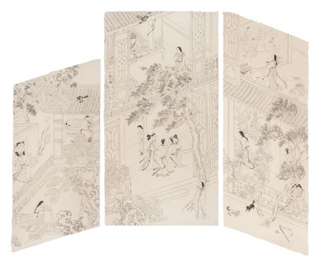 《第五夜》193×165cm 宣纸水墨 2018