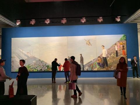 嘉德艺术中心2019年秋拍二十世纪及当代艺术板块预展现场
