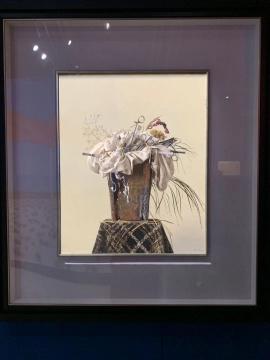 冷军 《香花与毒草》80.5×65.5cm 布面油画 1997  估价:780万-980万元