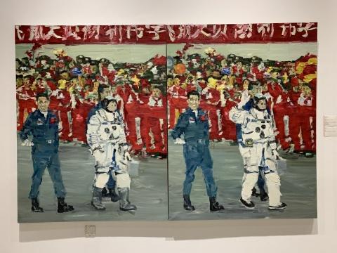 李青 《英雄归(两图有八处不同)》(双联作)170×130cm×2 布面油画 2005  估价:25万-35万元