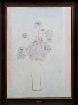常玉 《白瓶粉红菊》100×70.5cm布面油画 1931估价:4800万-6800万元