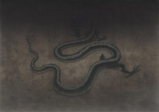 《无人之境.惊蛰》76×110cm绢本设色 2017