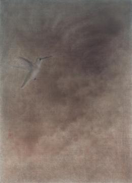 《无人之境.混沌》37×50cm绢本设色2018