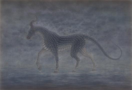 《无人之境.霓浅》76×110cm绢本设色2019