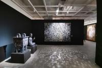 马赛克材料教学的探索与实践   搬进展厅的央美壁画系教学课堂