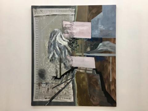 杨双庆《白鸽的日常》220×185cm 布面油画 2019