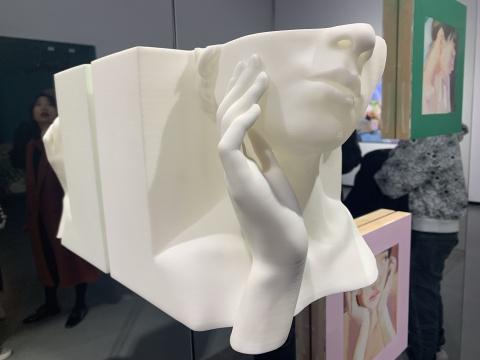 "3D打印的""托下巴""雕塑"