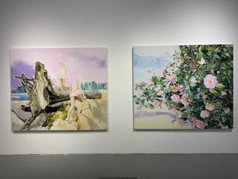 《通道1》 180×200cm 布面油画 2019  《通道2》 180×200cm 布面油画 2019