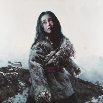 艾轩 《颓垣往事》 布面油画120×120cm 2019