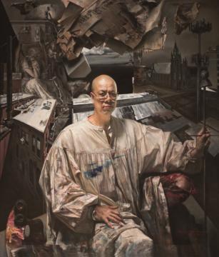 王玉琦 《莱德霍克的幻想》 布面油画 172.7x 147.3cm 2018