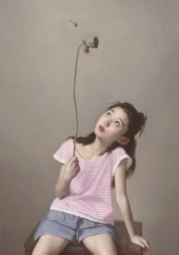 李贵君 《蜻蜓》 布面油画 132x113cm 2016