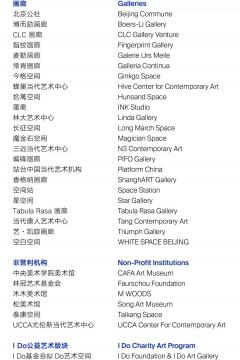 画廊周北京2020参展阵容
