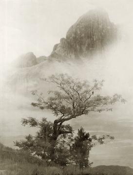 郎静山《雁荡鸣春》 28× 22cm 银盐纸基 印章 1941  RMB:35,000-50,000
