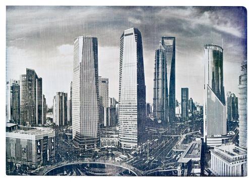 沈忠海《陆家嘴金融区》 12.7× 17.8cm 达盖尔银版法 1/1 签名 2017RMB:12,000-20,000