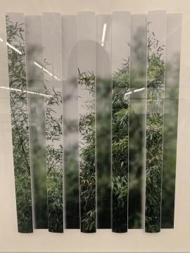 《奇数与偶数系列:竹林》 40×50cm×2 综合材料 2019