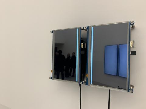 《一半》 25×17cm 录像,双屏 2019