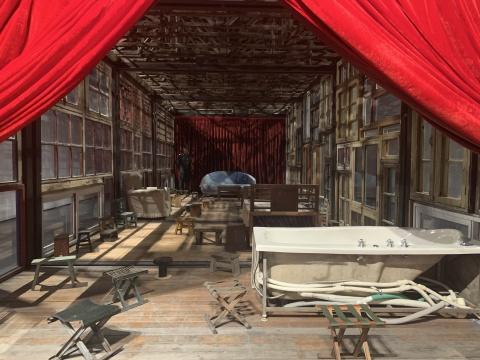 宋冬 《我家是你的舞台》 11×4.5×5m 旧房子、旧家具、钢