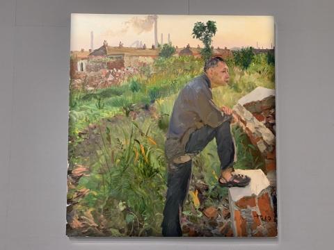 刘小东 《韩生子买地》150×140cm 布面油画 2010