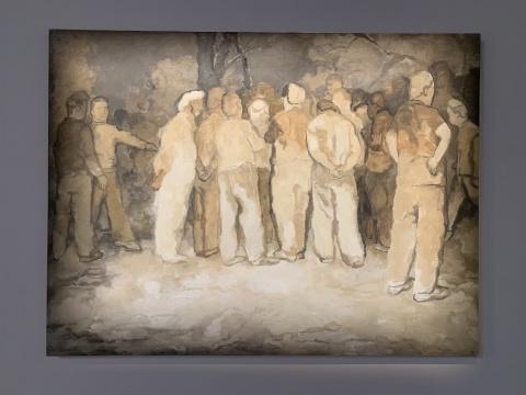 苏新平 《围观》 150×200cm 布面油画 2019
