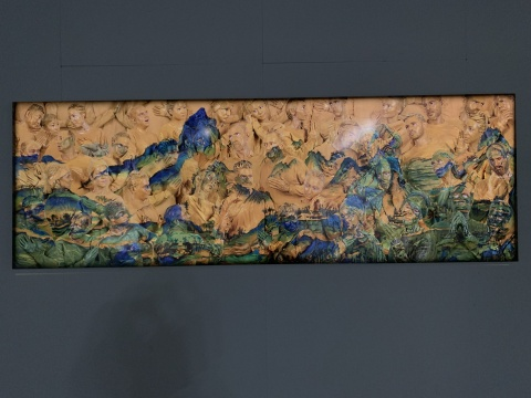 刘勃麟 《千里江山图》 300×100cm 2014