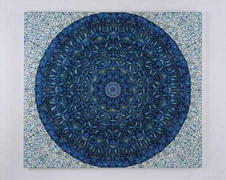 达明安·赫斯特 《神圣》213.4cm×243.8cm 蝴蝶拼画 2007©和美术馆