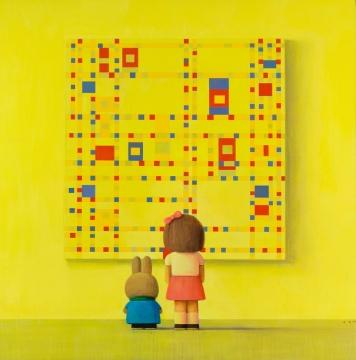 刘野 《百老汇往事》210cm×210cm 布面油画 2006©和美术馆