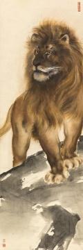 高奇峰 《威震高岗》 157.2cm×52.4cm 纸本设色 1924©和美术馆