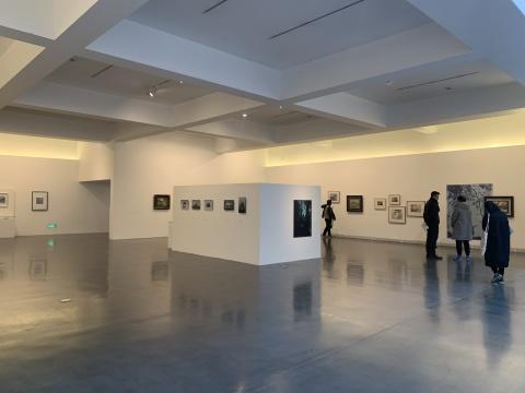 美术馆二层展览现场