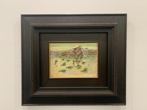 吴冠中 《秧苗》 27×37cm 纸本水彩 1959