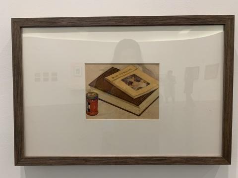 李斛 《静物》 19.2×28cm 纸本水彩 1950年代