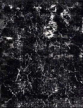 张大我《碑版之祖 》95 x65 cm 纸本水墨 漆墨.铅白2019