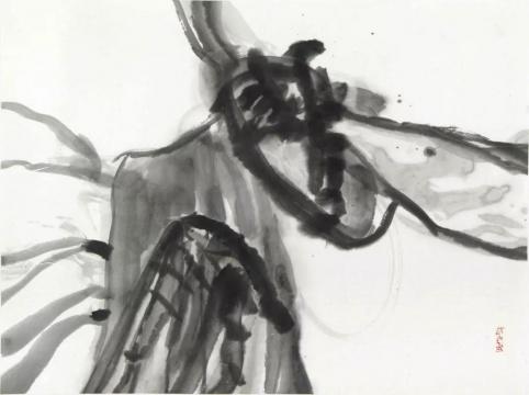 邱振中《观自在》51.5 x 68 cm 纸上水墨2016