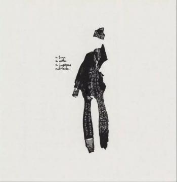 朱茜《众生相.第五 》35 x 35 cm 纸本水墨2017