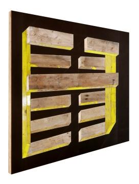 《黄·和谐》 改装托盘及酚醛胶夹板 137×99cm 2019
