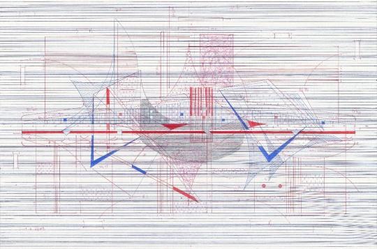凌海鹏《惘然》45×68cm 宣纸水墨 2019