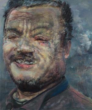 陈卉《一个叫作永恒的男人》之一 120×100cm 布面油画 2017