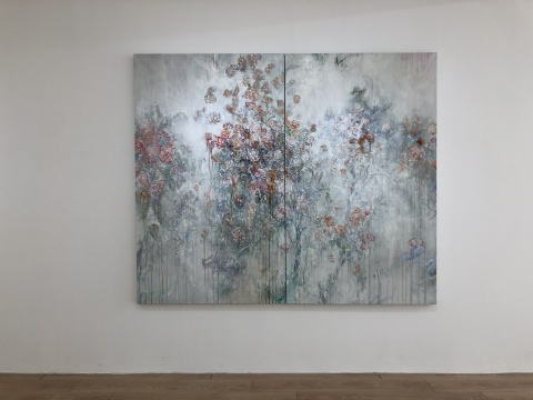 彭斯 《微尘》 180×216cm 布面油画 2018