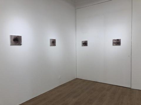 司博文 《o , e , i ,u》 20×25cm×4 布面油画 2019