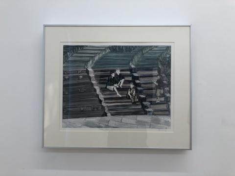 张银亮 《台北客运站》34×44cm 纸上独幅版画 2018