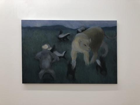 黄冰洁 《平静》 80×120cm 布面油画 2017