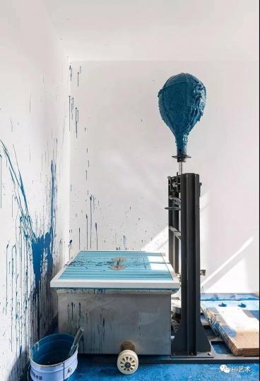 艺术家隋建国工作室 作品为《时间的形状》
