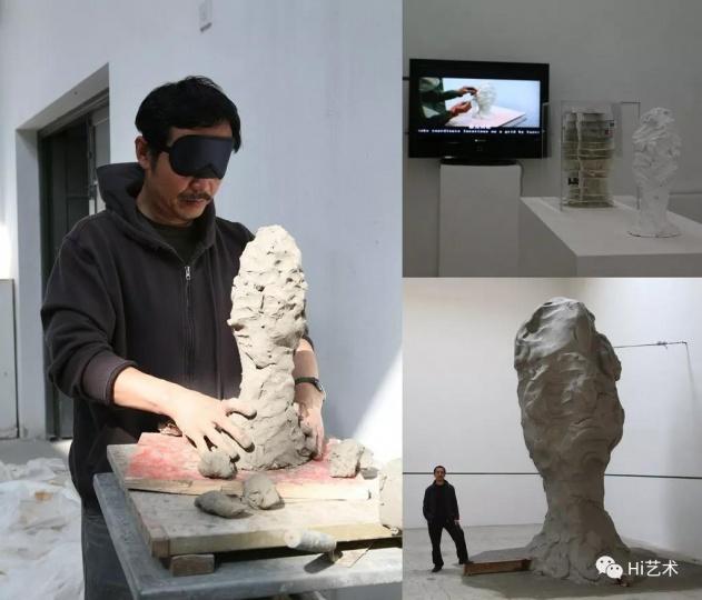 《盲人肖像》 泥及综合材料 2008年